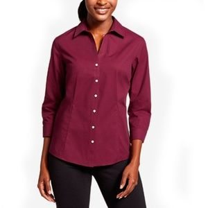 Eddie Bauer Wrinkle Resistant Stretch Solid Shirt